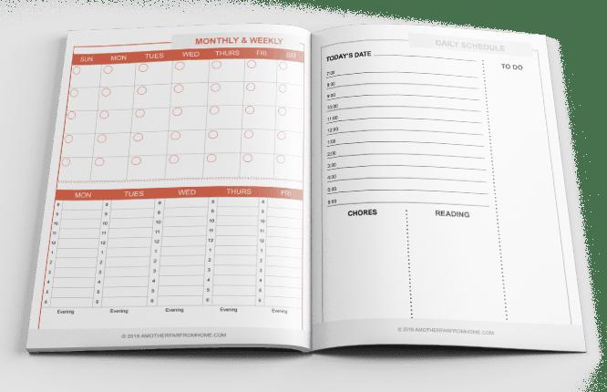 lista de verificación mensual para la escuela en casa