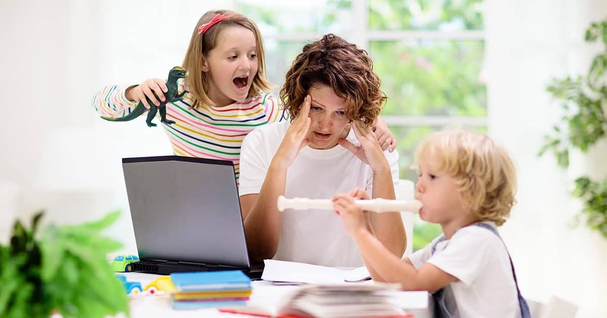 coronavirus para la educación en el hogar de niños y padres