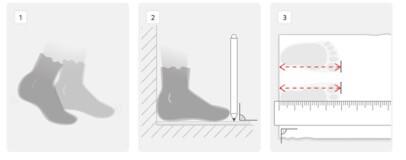 como medir el tamaño de los pies del niño para saber la talla de zapato